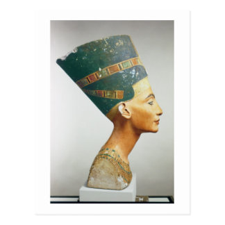 Busto de la reina Nefertiti, vista lateral, del st Tarjetas Postales