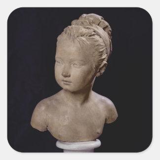 Busto de Louise Brongniart, 1777 Pegatina Cuadrada