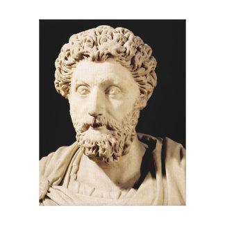 Busto de Marco Aurelius Lienzo Envuelto Para Galerias