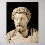 Busto de Marco Aurelius Poster