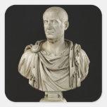 Busto de Marco Claudius Tácito Pegatina Cuadrada