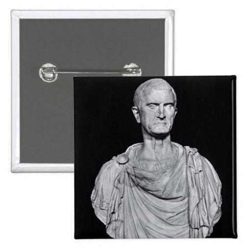 Busto de Marco Licinius Crassus Pin Cuadrada 5 Cm