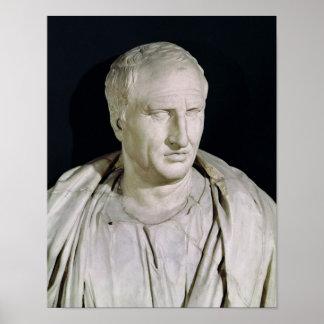 Busto de Marco Tullius Cicero Póster