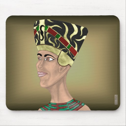 Busto de Nefertiti Tapetes De Ratón