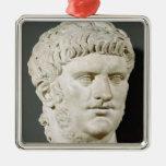 Busto de Nero Adorno Navideño Cuadrado De Metal