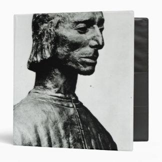 "Busto de Niccolo Machiavelli Carpeta 1 1/2"""