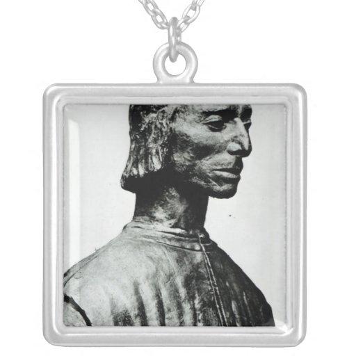 Busto de Niccolo Machiavelli Colgante Cuadrado