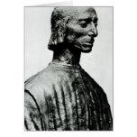 Busto de Niccolo Machiavelli Tarjeta De Felicitación