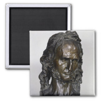 Busto de Nicolo Paganini 1830 Imán Cuadrado