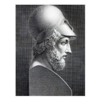 Busto de Pericles, grabado por José Cozzi Tarjeta Postal