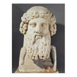 Busto de Platón Postal