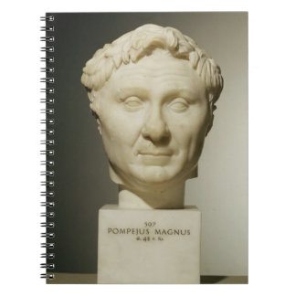 Busto de Pompey (106-48 A.C.) c.60 A.C. (mármol) Libros De Apuntes Con Espiral