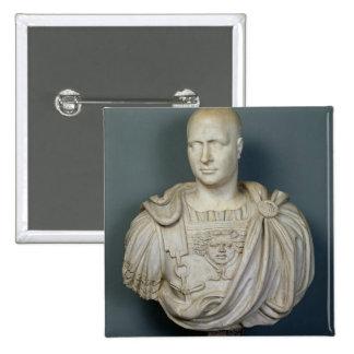 Busto de Publius Cornelio Scipio 'Africanus Pin Cuadrada 5 Cm