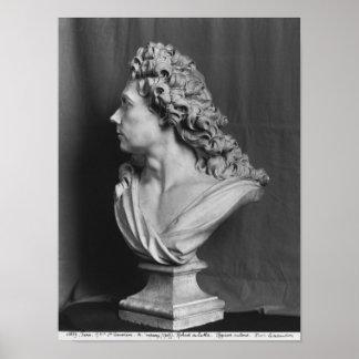 Busto de Roberto de Cotte, 1707 Póster
