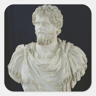 Busto de Septimus Severus Calcomanía Cuadradas Personalizadas