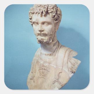 Busto de Septimus Severus Calcomanía Cuadradas Personalizada
