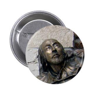 Busto de Shakespeare de Verona Pin Redondo 5 Cm