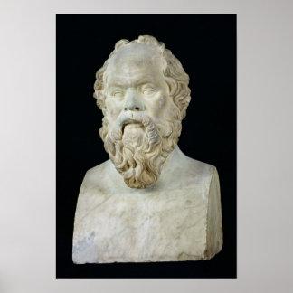 Busto de Sócrates Poster