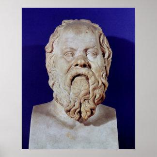 Busto de Sócrates Posters