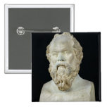 Busto de Sócrates Pin Cuadrado