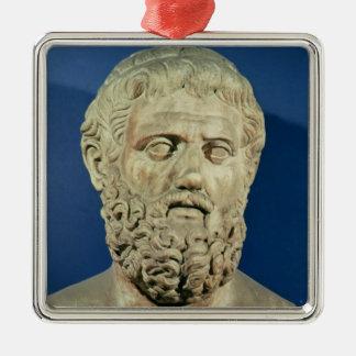 Busto de Sophocles Adorno Navideño Cuadrado De Metal