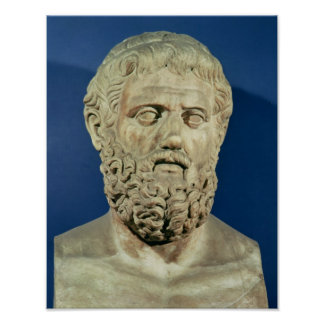 Busto de Sophocles Posters