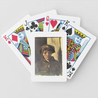 Busto de un campesino, 1884 (aceite en lona) barajas de cartas