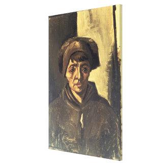 Busto de un campesino, 1884 (aceite en lona) lona estirada galerías
