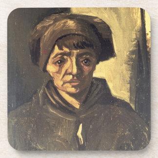 Busto de un campesino 1884 aceite en lona posavaso