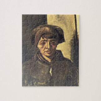 Busto de un campesino 1884 aceite en lona puzzle