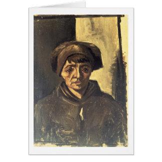 Busto de un campesino, 1884 (aceite en lona) tarjeta