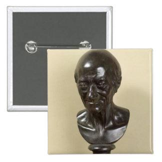Busto de Voltaire 1778 Pin Cuadrada 5 Cm