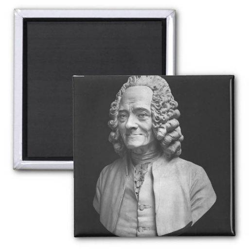 Busto de Voltaire Imán Cuadrado