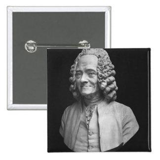 Busto de Voltaire Pin Cuadrada 5 Cm