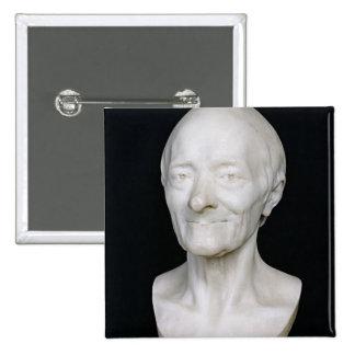 Busto de Voltaire sin su peluca, 1778 Pin Cuadrada 5 Cm