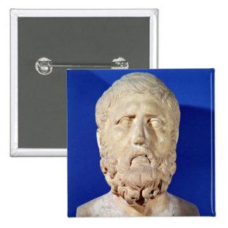 Busto de Zeno de Citium Pin Cuadrado