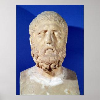 Busto de Zeno de Citium Póster