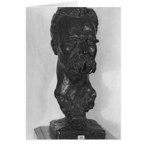 Busto del alemán de Friedrich Nietzsche Tarjeta De Felicitación