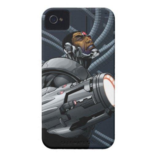 Busto del Cyborg y del arma iPhone 4 Case-Mate Carcasas