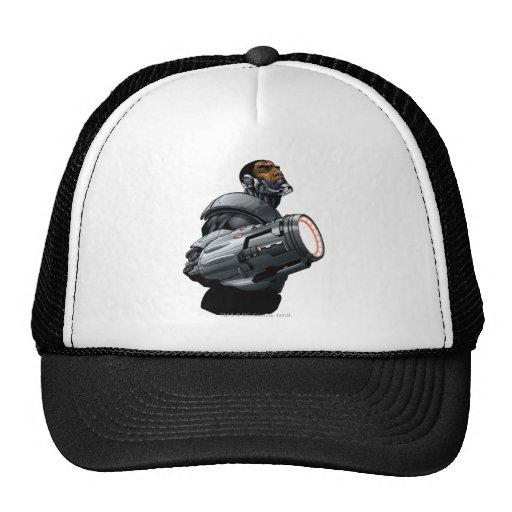 Busto del Cyborg y del arma Gorras De Camionero