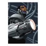 Busto del Cyborg y del arma Invitaciones Personalizada