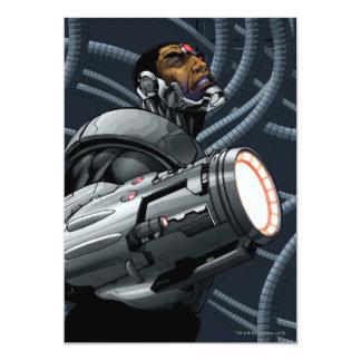 Busto del Cyborg y del arma Invitación 12,7 X 17,8 Cm
