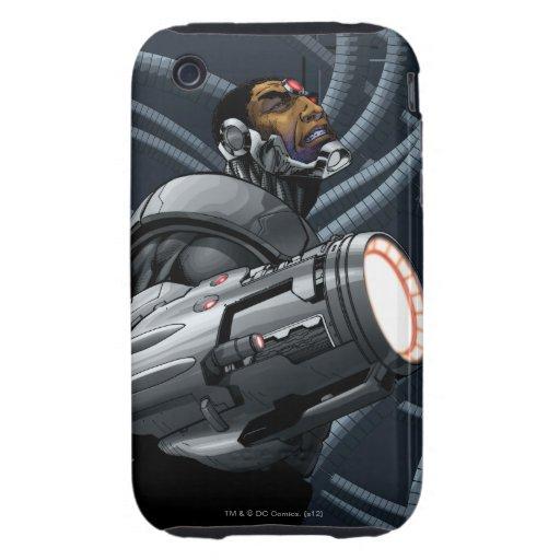 Busto del Cyborg y del arma iPhone 3 Tough Fundas