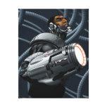 Busto del Cyborg y del arma Lona Envuelta Para Galerías