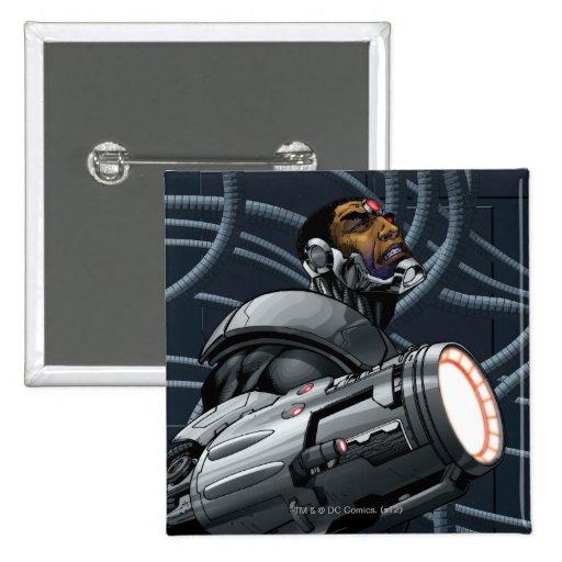Busto del Cyborg y del arma Pin