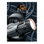 Busto del Cyborg y del arma Postal