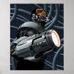 Busto del Cyborg y del arma Poster