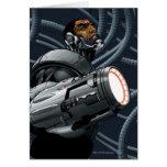 Busto del Cyborg y del arma Tarjeta De Felicitación