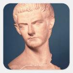 Busto del emperador Caligula de Tracia, ANUNCIO Pegatina Cuadrada