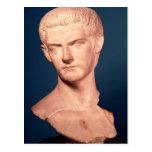 Busto del emperador Caligula de Tracia, ANUNCIO Tarjeta Postal